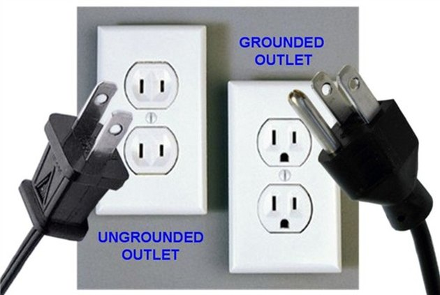 Grounded and ungrounded plugs and outlets.