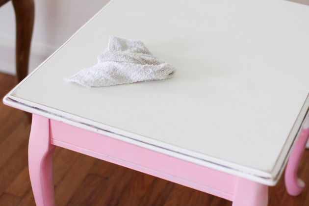 Cleaning surface of end table