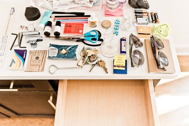 Clean out and organize all your junk drawers.
