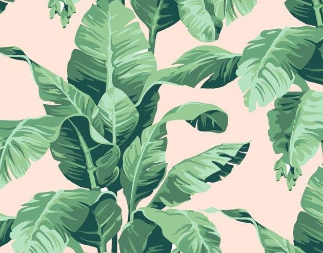 WallShoppe Tropical Leaf Print Wallpaper