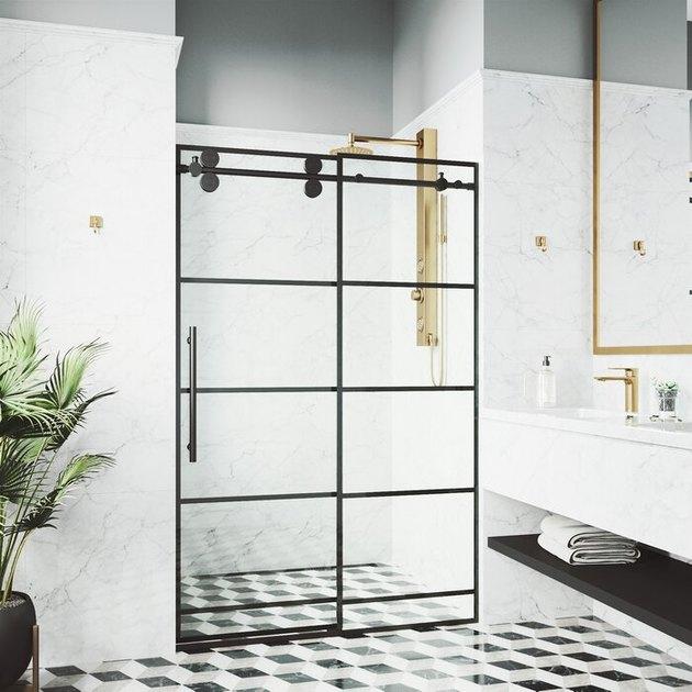 window pane shower door
