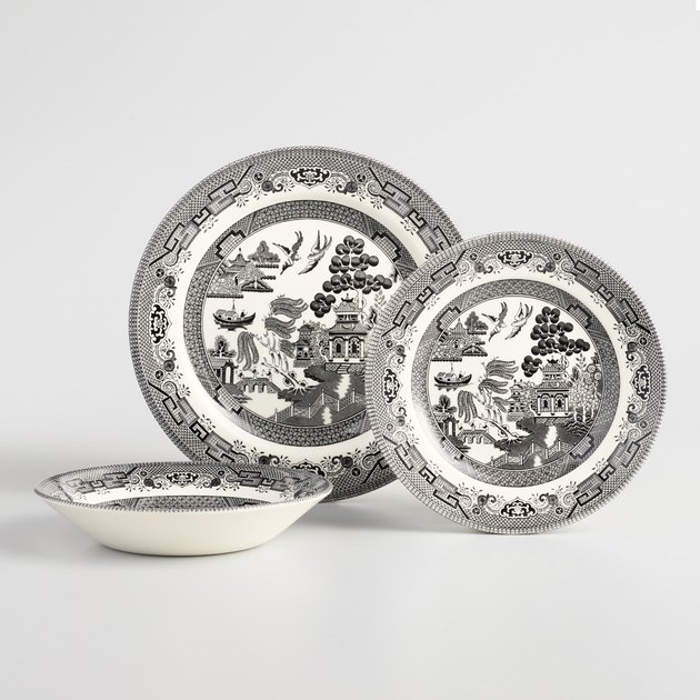 World Market Black Willow Chinoiserie Dinnerware Collection