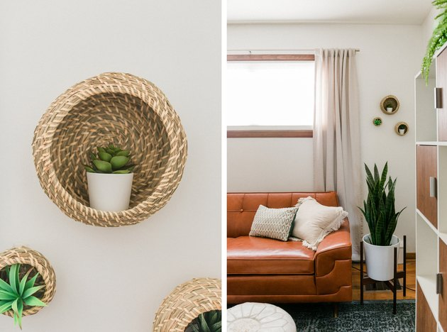 IKEA Hack: From Baskets to Succulent Shelving