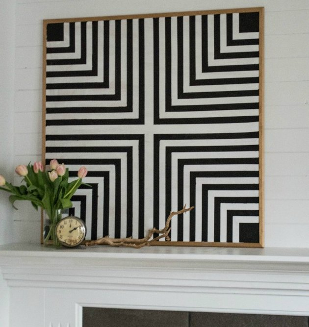graphic black and white art deco DIY project