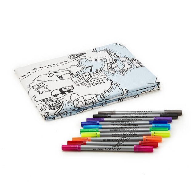 world map coloring tablecloth