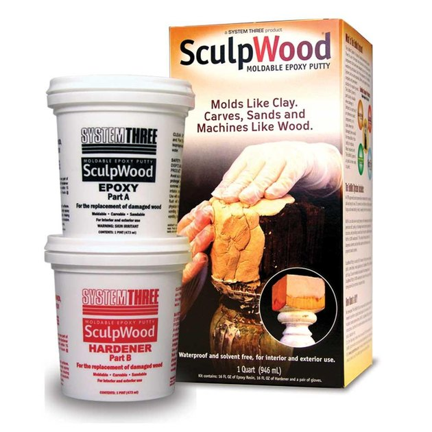 SculpWood epoxy putty.