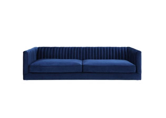 lulu and georgia navy velvet couch