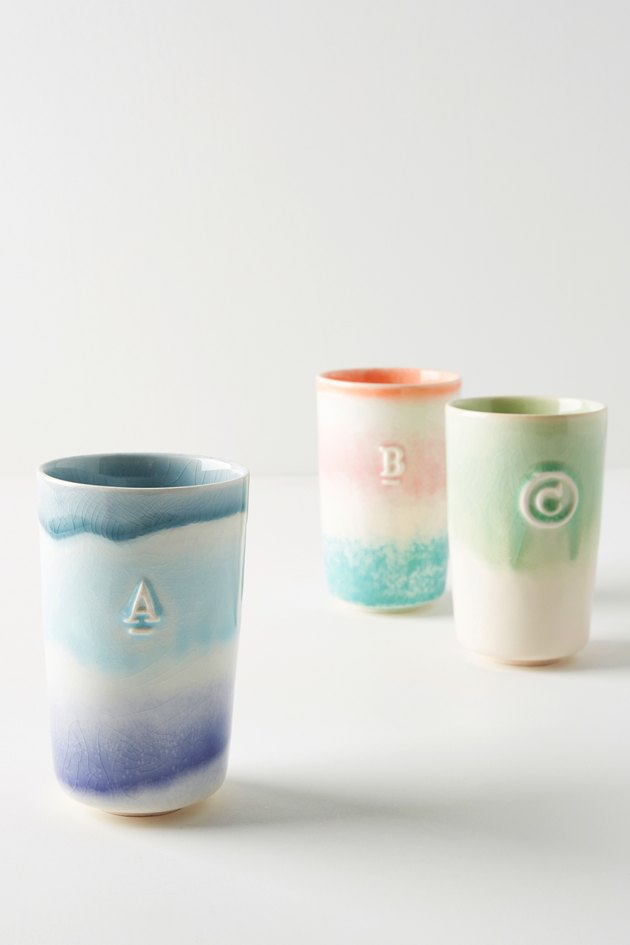 multicolored tumblers