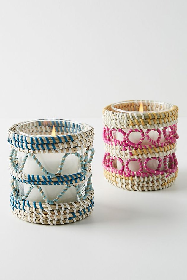 anthropologie rattan votives