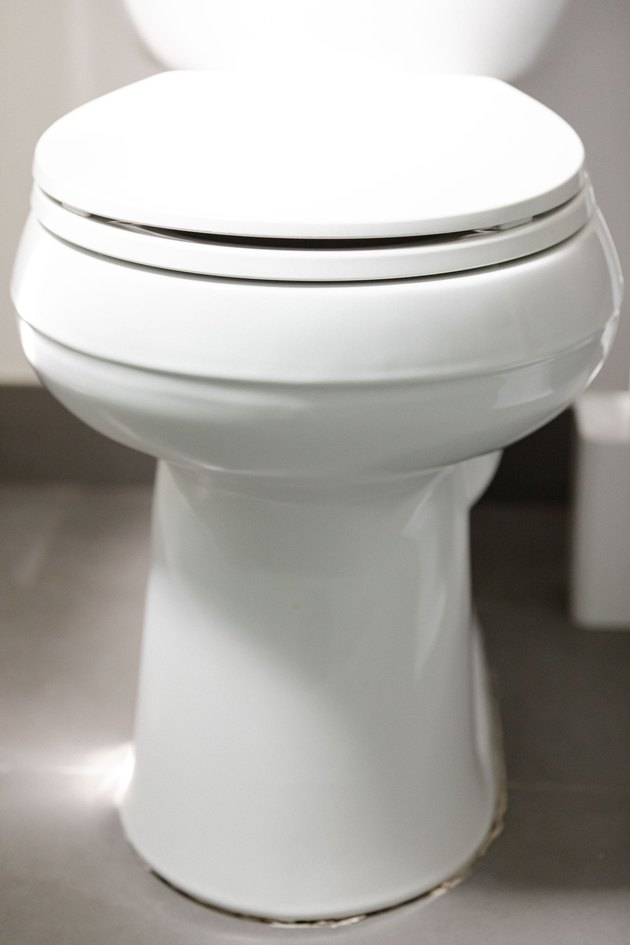 close up of toilet