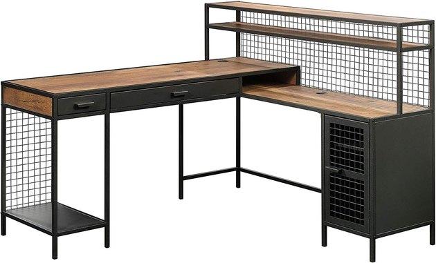 Sauder Boulevard Café L-Shaped Desk, $320.80