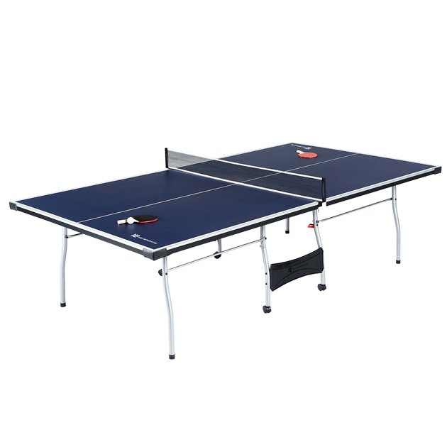 MD Sports Official Size Foldable Indoor Table Tennis Table with Paddle and Balls, $178