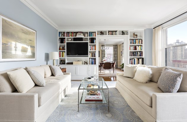 light blue paint living room ideas