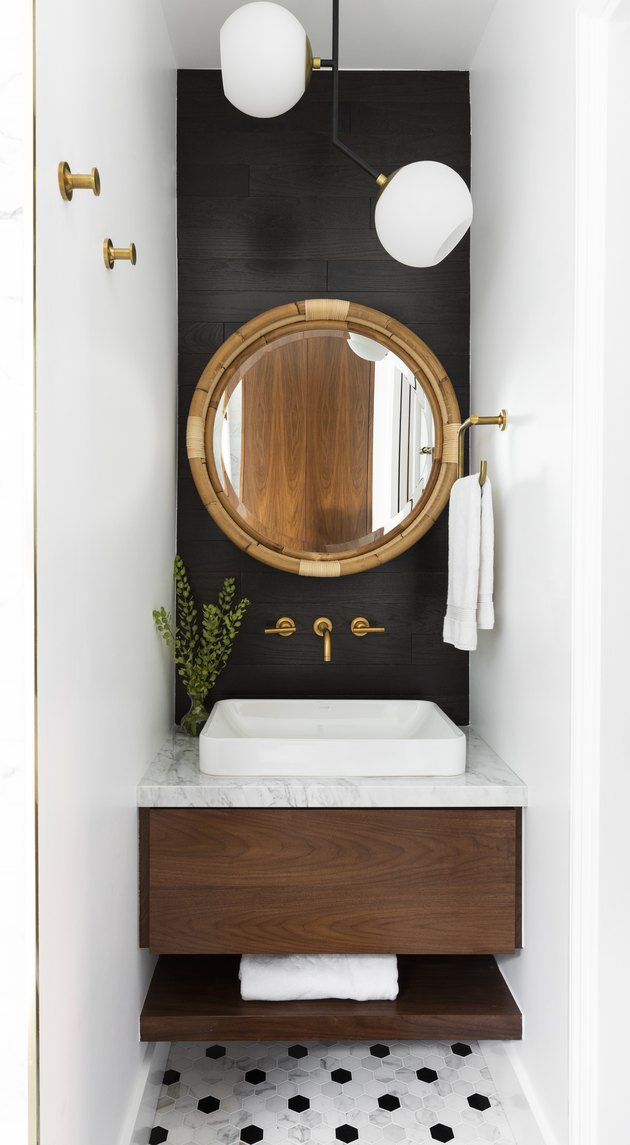 powder room dark paint ideas