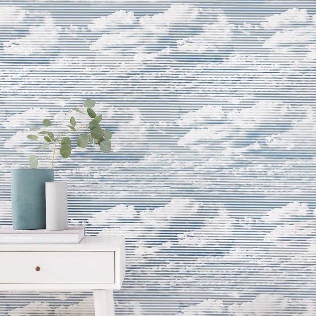 cloud printed boho wallpaper