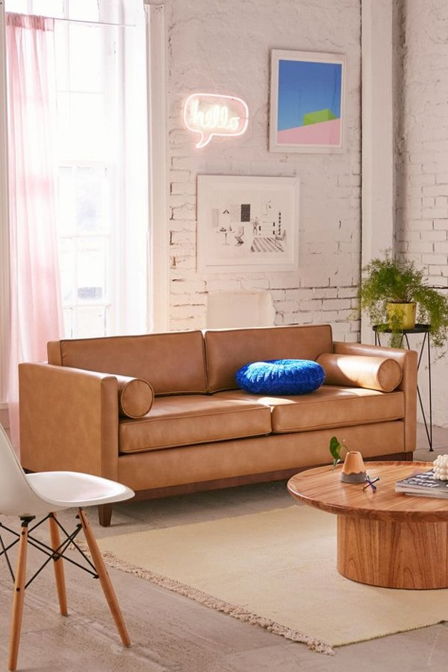 urban outfitters piper leather couch