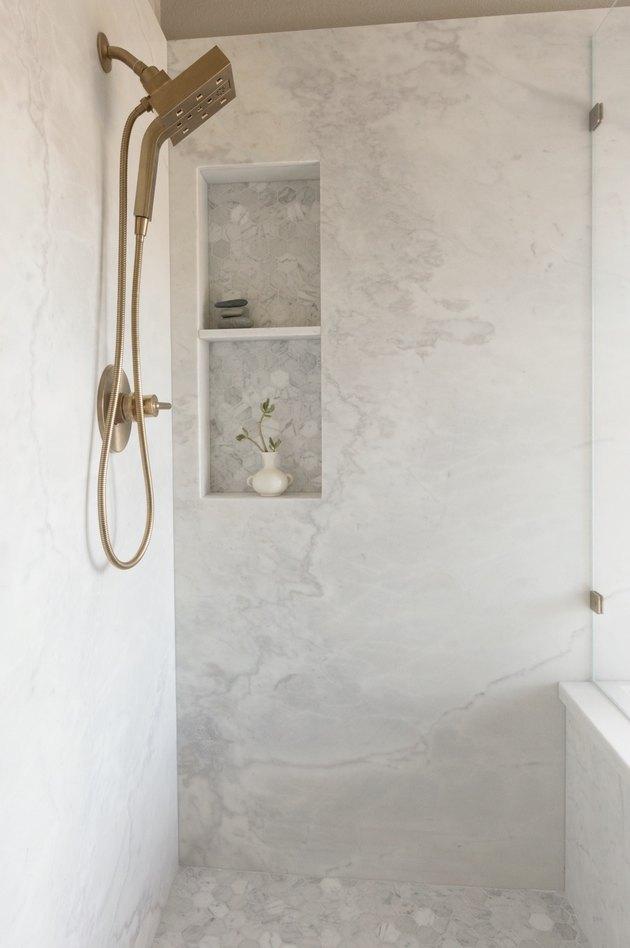 Marble shower bathroom trend