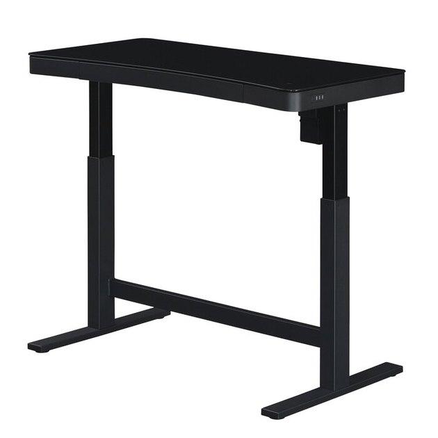 sleek black adjustable standing desk