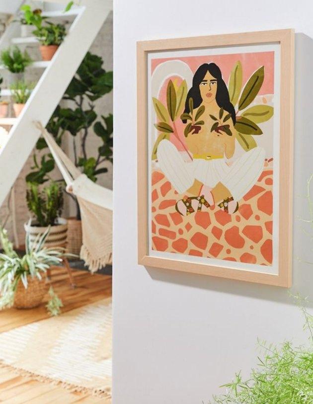 plant lady wall art