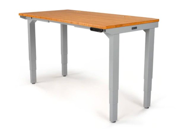 light wood top adjustable standing desk