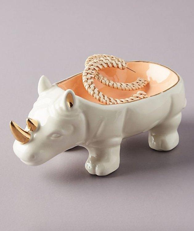 rhino trinket dish