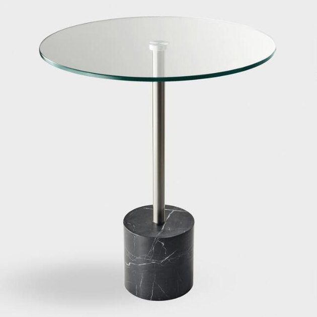 World Market Round Glass Top and Marble Accent Table, $179.99