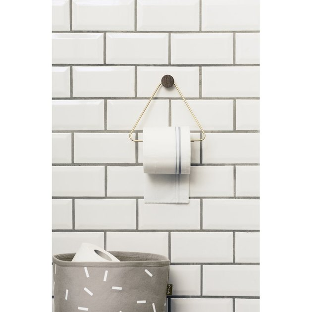 minimalist toilet paper holder
