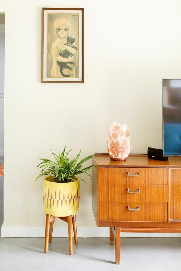 midcentury inspired living room