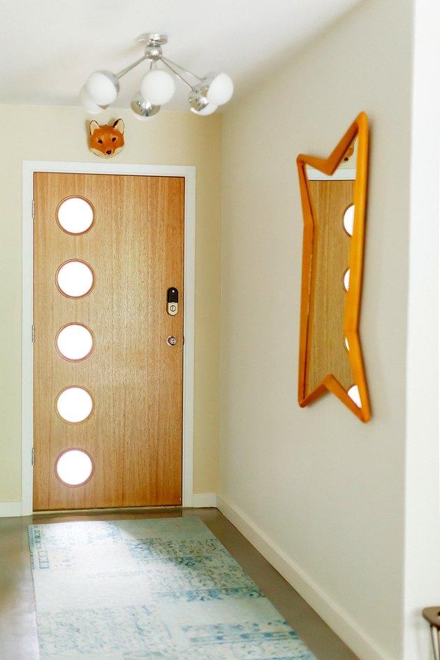 midcentury hallway
