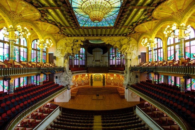 Palau de la Música Catalana with art nouveau interiors
