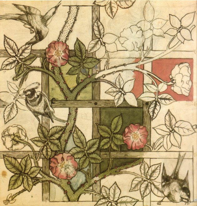 William Morris design for Trellis wallpaper
