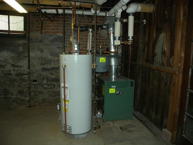 Water heater in the basement.