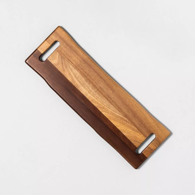 rectangular wood serving board