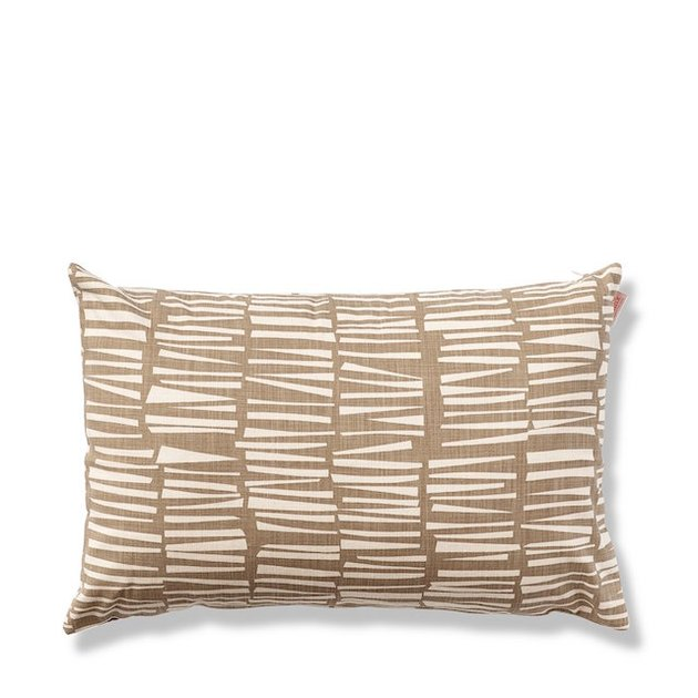 cocoa colored pillow with wood stick pattern