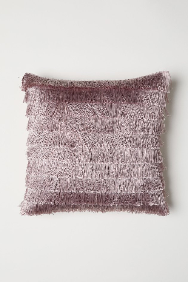 H&M Fringed Cushion Cover, $12.99