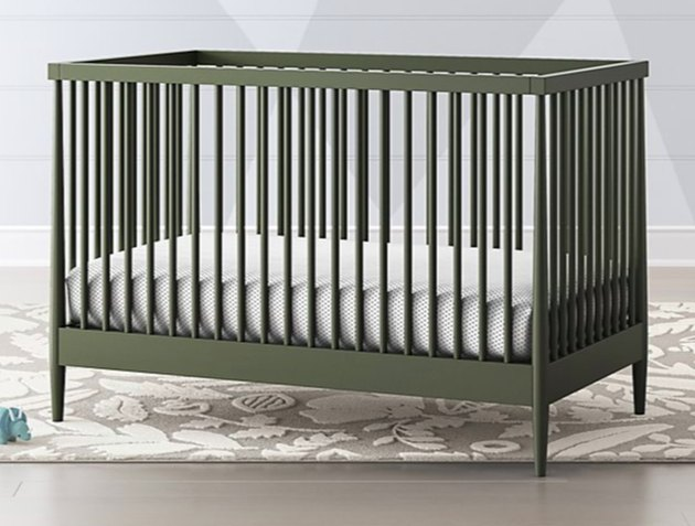 crate and kids olive green crib