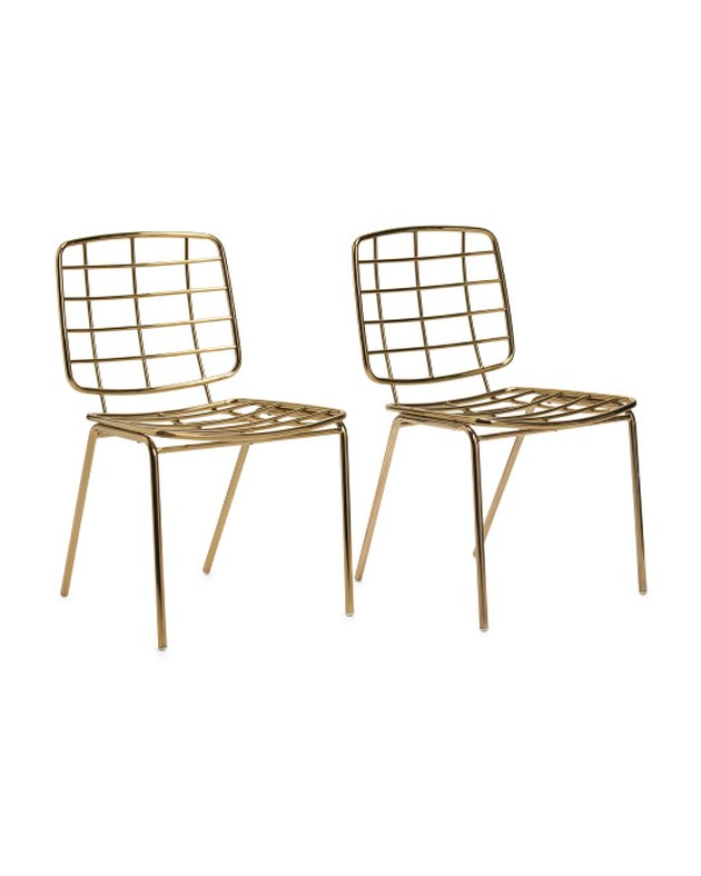 Bloomingville Glam Metal Chairs (set of two), $159.99