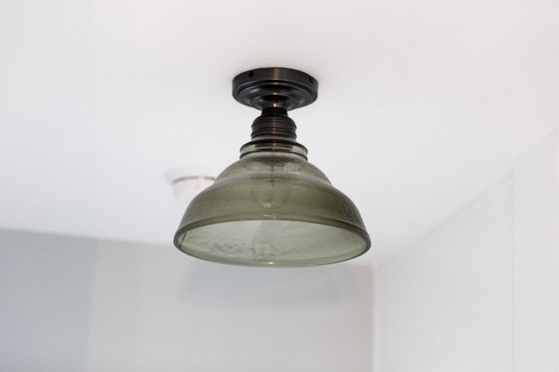 close up on light fixture pendant