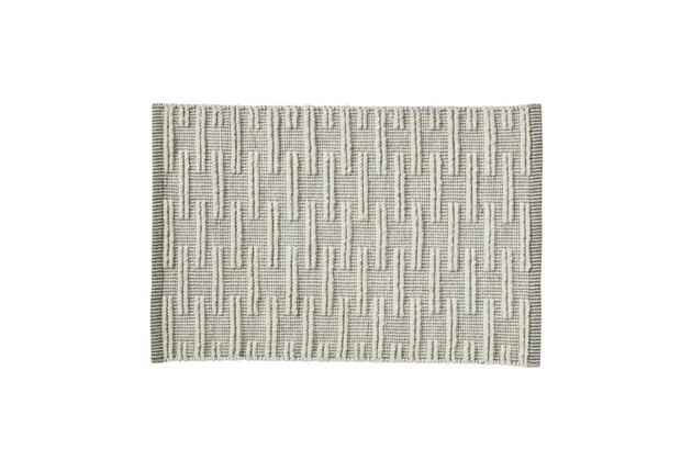 textured wool rug