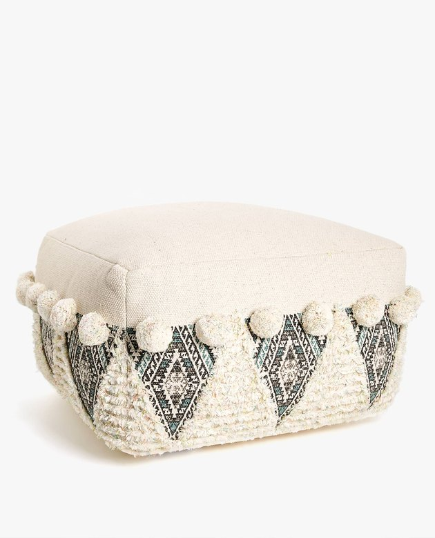 zara home floor pouf