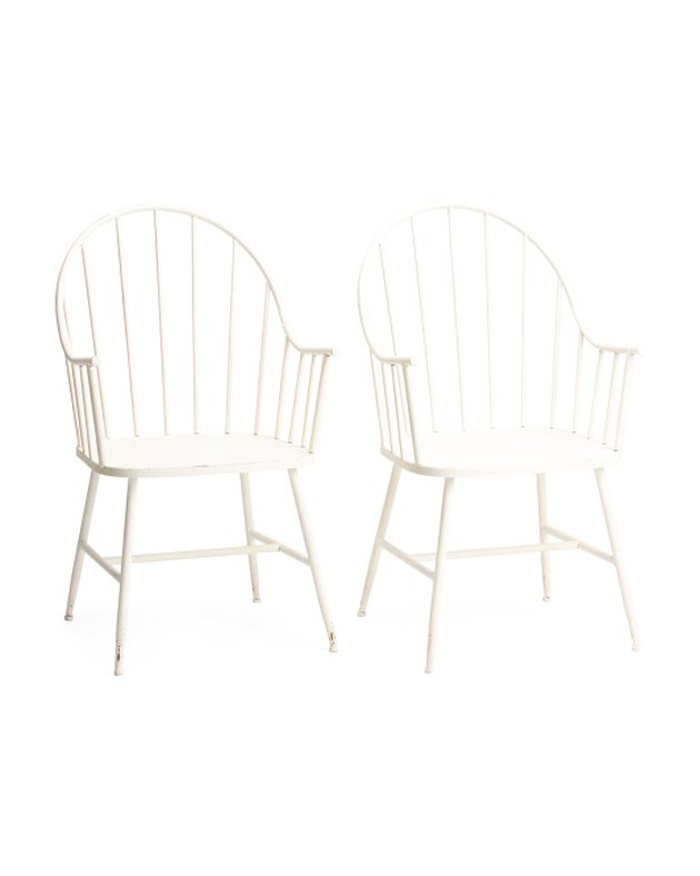 Creative Co-op Distressed Metal Chairs (set of two), $159.99
