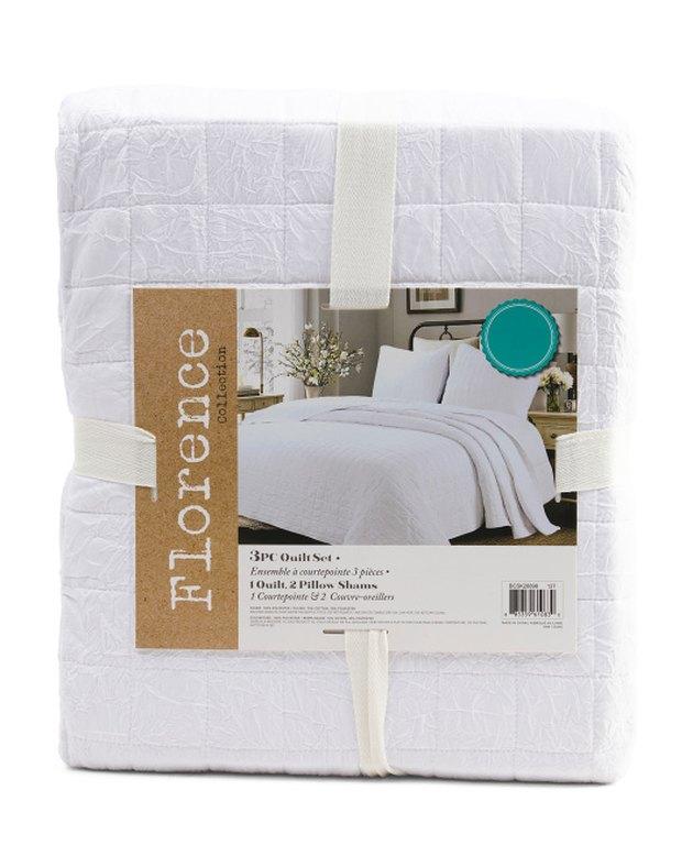 Florence Crushed Cotton Quilt Set (King), $49.99