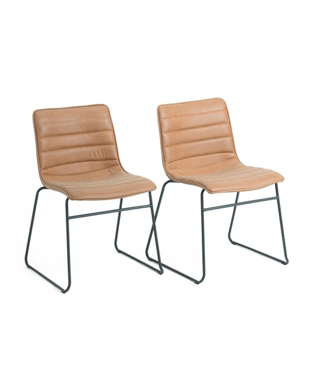 Ave Six Faux Leather Stacking Chairs (set of two), $129.99