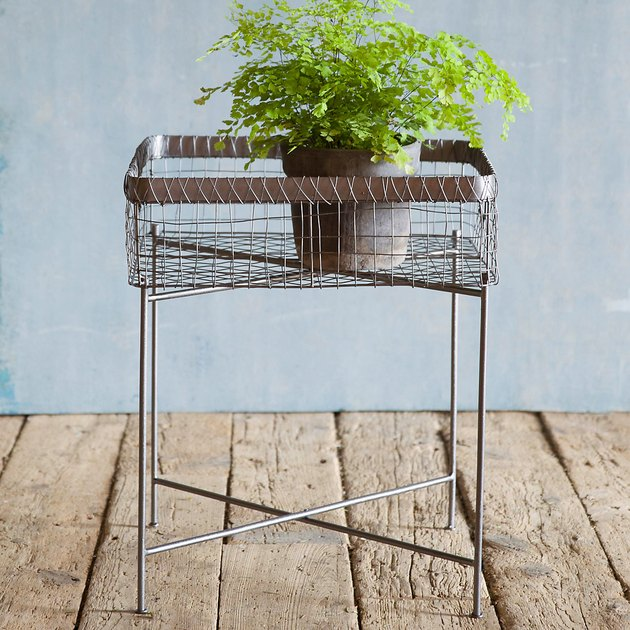Terrain Side Table Plant Stand, $118