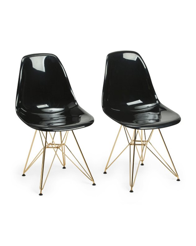 Lumisource Black and Gold Chairs (set of two), $149.99