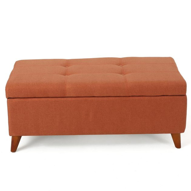 noble house orange ottoman
