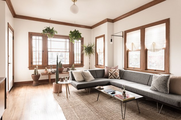 Boho midcentury living room
