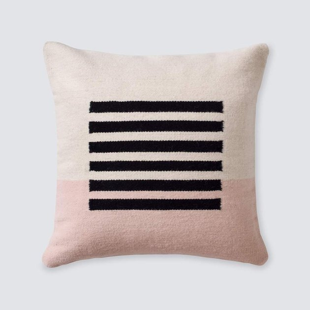 blush room decor with throw pillow by The Citizenry