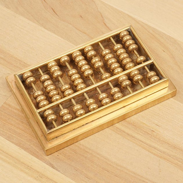 Brass Abacus Calculator