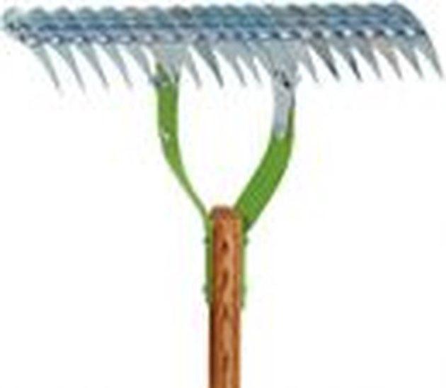 A thatch rake.